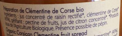 Préparation De Fruit Aux Clémentines De Corse - Ingrediënten