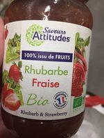 Preparation 100% Fruits Rhubarbe Fraise Bio - Ingredients - fr