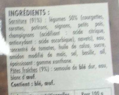Lasagnes aux 7 légumes - Ingrédients - fr