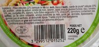 Salade méditerranéenne - Informations nutritionnelles - fr
