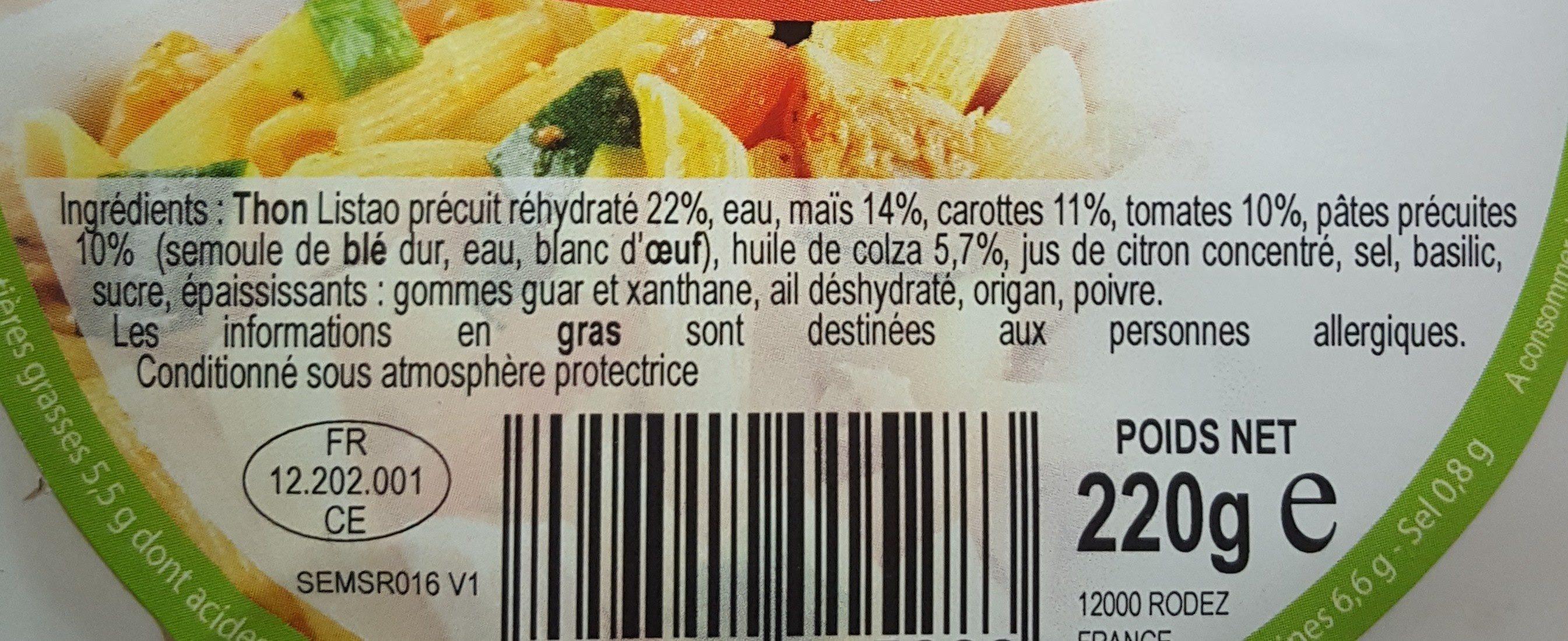 Salade italienne - Ingrédients - fr
