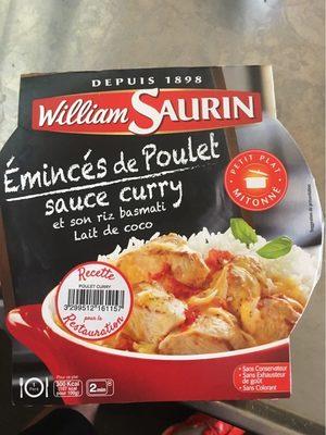 Emincé de Poulet Sauce Curry et Son Riz Basmati - Produit