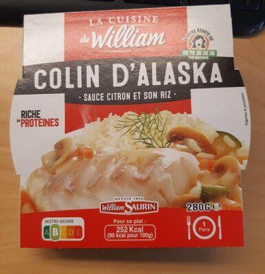 Colin d'Alaska sauce citron et son riz - Product - fr