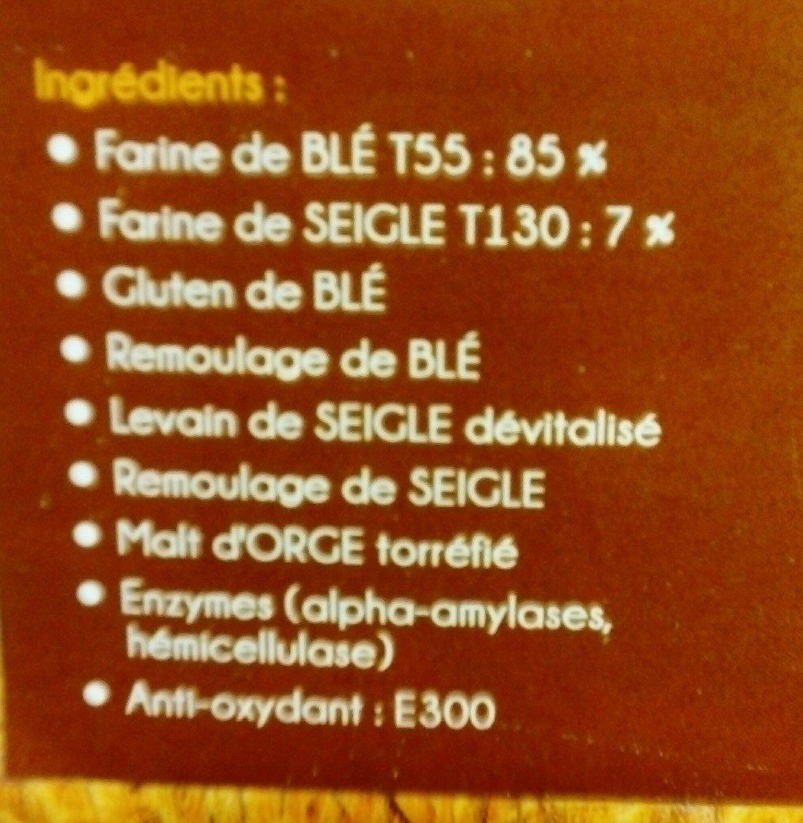 Farine pour pain de campagne SOLEILLANE - Ingrédients - fr