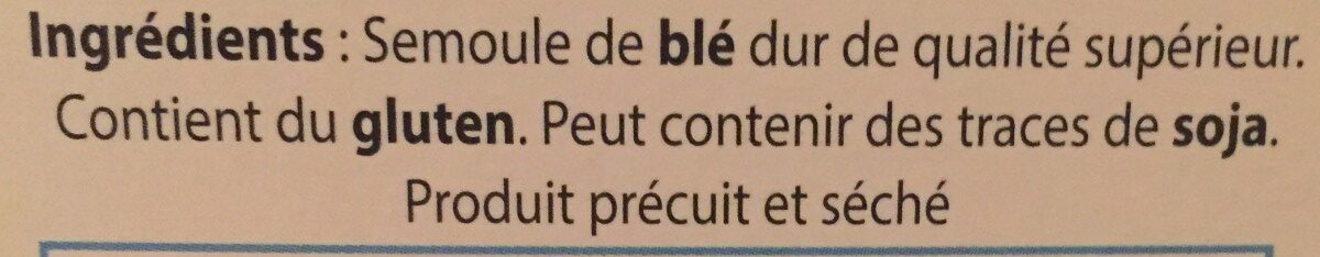 Perles de l'ouet - Ingredients