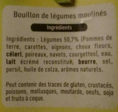 Mouliné de légumes - Ingrediënten - fr