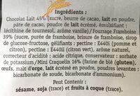 Coeur Framboise - Ingrediënten
