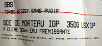 Saucisse de Morteau - Ingredients