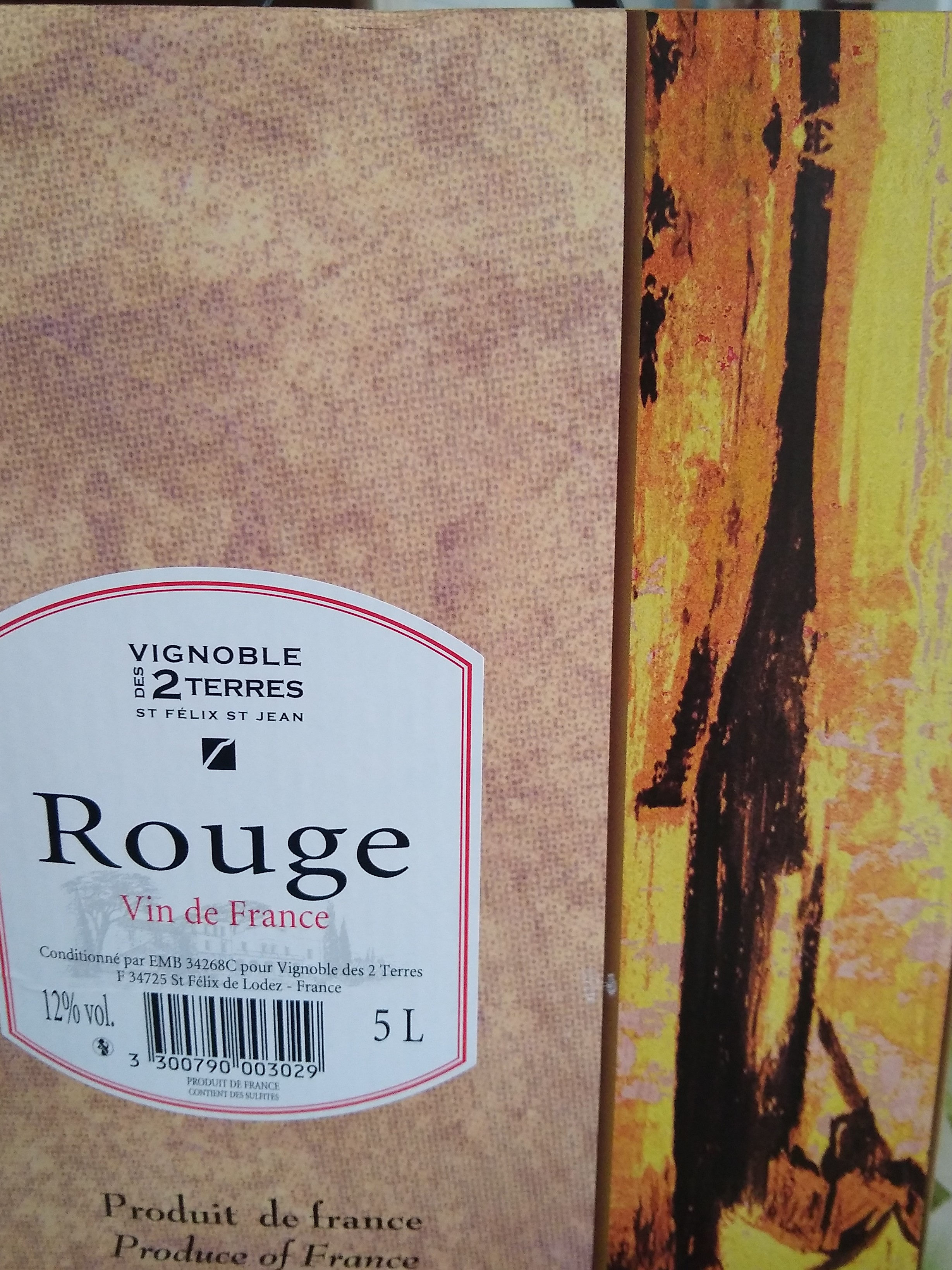 rouge vin de table - Produit