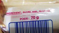 Suce miel - Ingrediënten