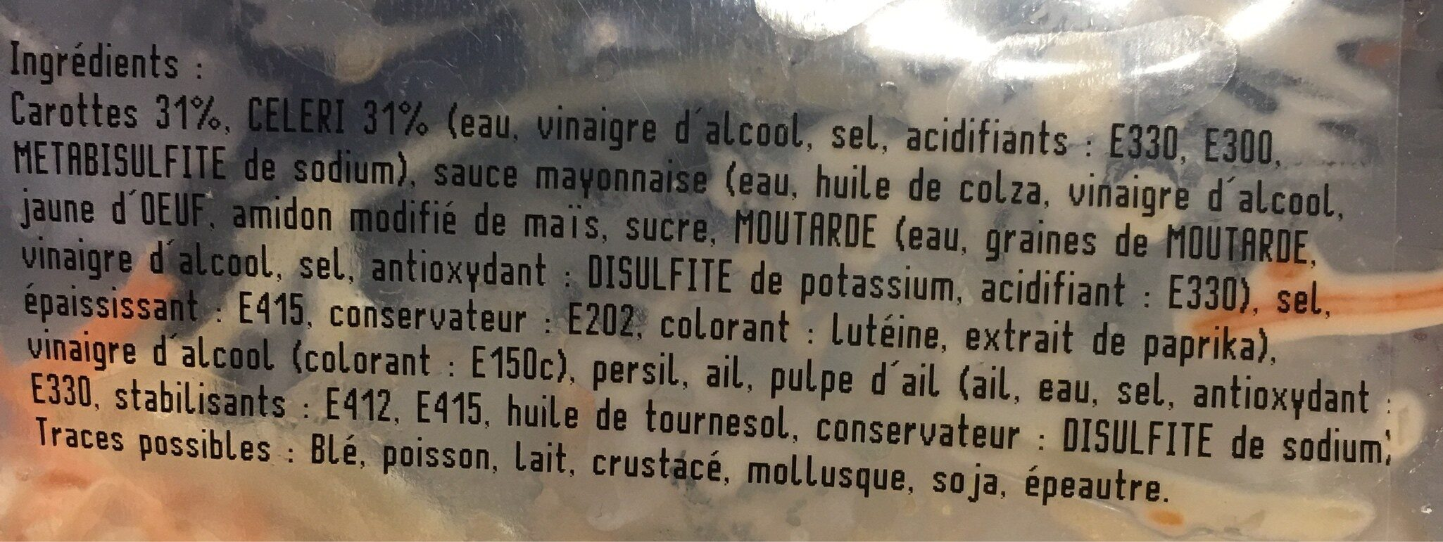 Salade duo de carotte et celerie - Ingrediënten - fr
