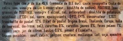 Cœur de blé au poulet et basilic - Ingrédients - fr