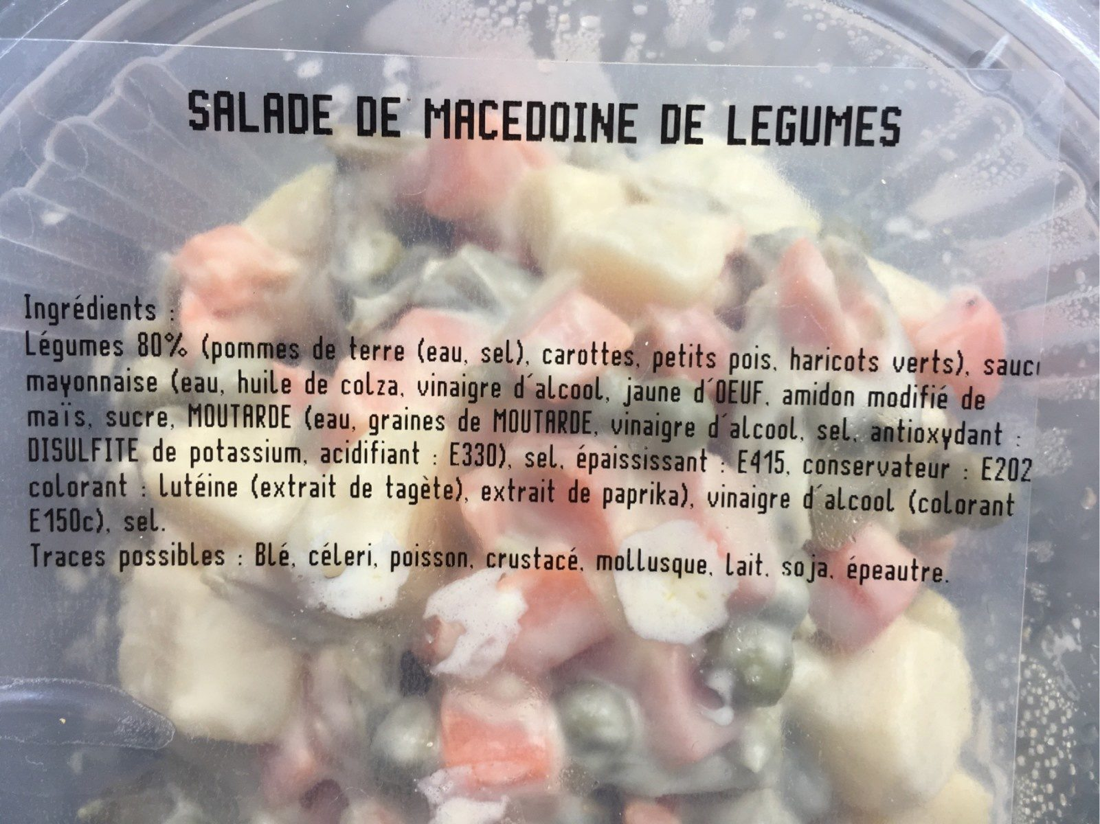 Macédoine de légumes - Ingredients - fr