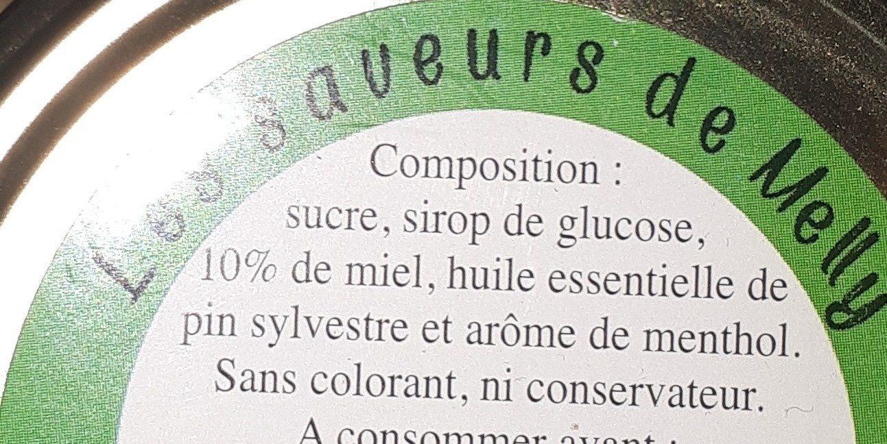 Pastilles au miel de Vendée et à la sève de pin. - Ingrediënten