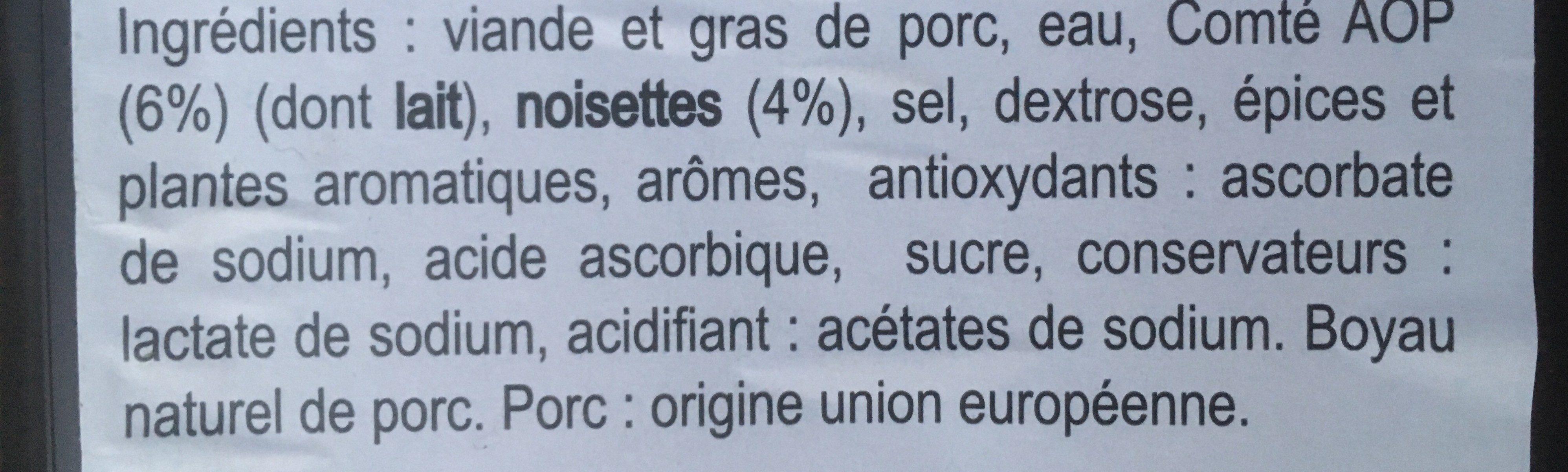 la campagnarde - Ingredients - fr
