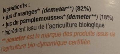 Jus 3 Agrumes - Ingrédients - fr
