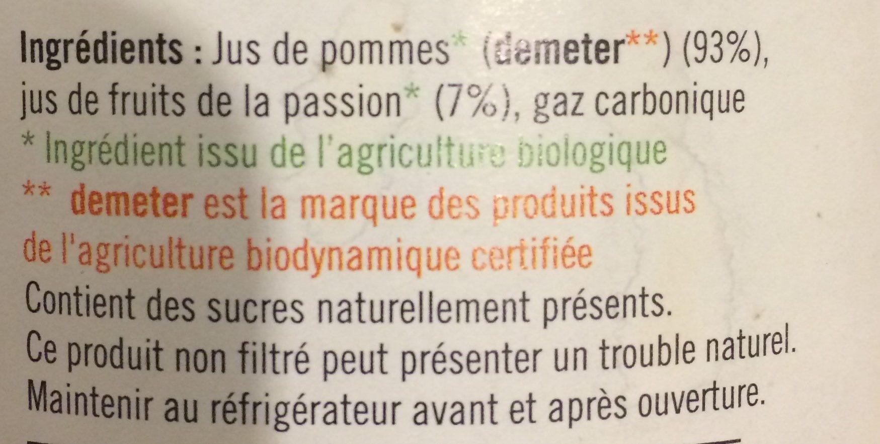 Apibul Fruits De La Passion - Ingrédients - fr