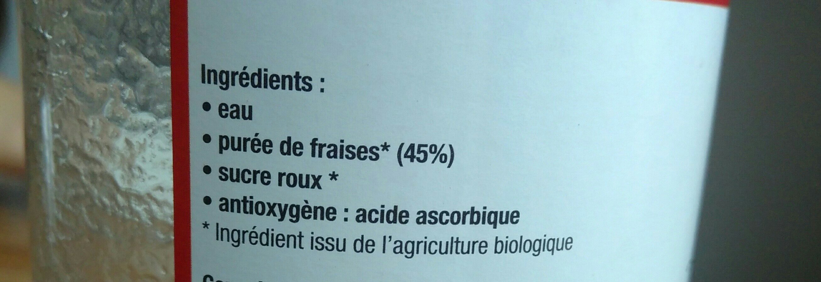 Le Nectar de Fraises - Ingredients