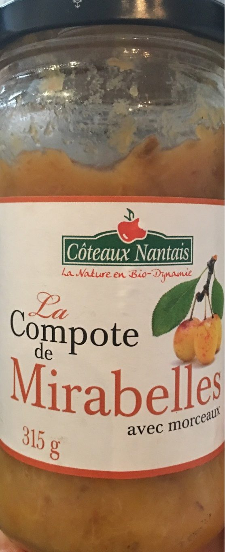 Compote De Mirabelle Avec Morceaux - Produit - fr
