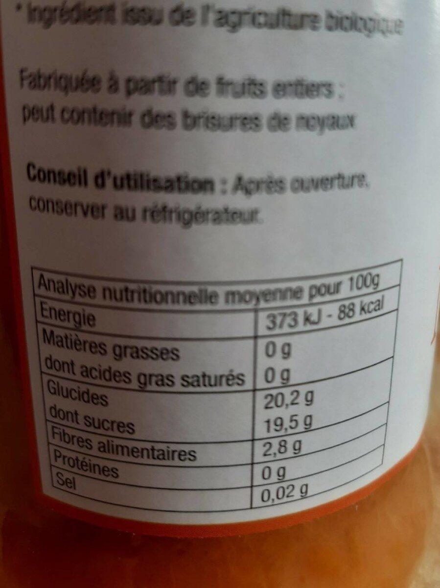 Compote De Mirabelle Avec Morceaux - Informations nutritionnelles - fr