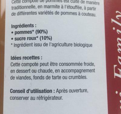 Compote Pomme - Ingrediënten - fr