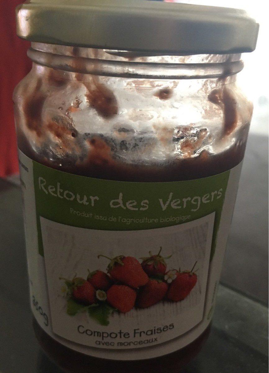 Compote fraises - Produit - fr