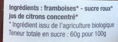 Confiture Framboise extra - Ingredients - en