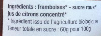 Confiture Framboise extra - Ingrédients - fr