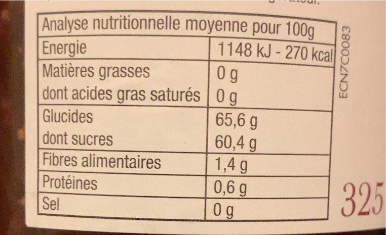 Confiture figues extra - Valori nutrizionali - fr