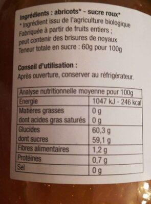 Epicerie / Epicerie Sucrée / Confitures Bio - Informations nutritionnelles - fr