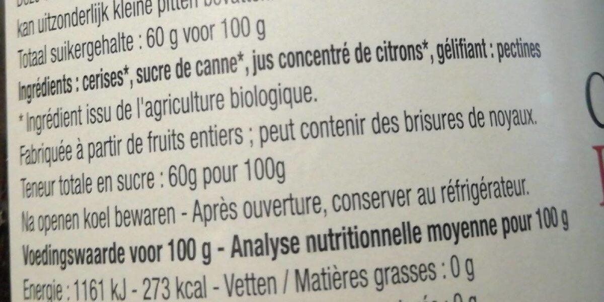 Confiture cerises - Ingrediënten - fr