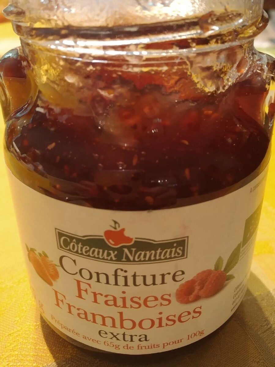 Confiture fraises framboises - Produit - fr