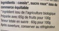 Gelée Cassis extra - Ingrédients - fr