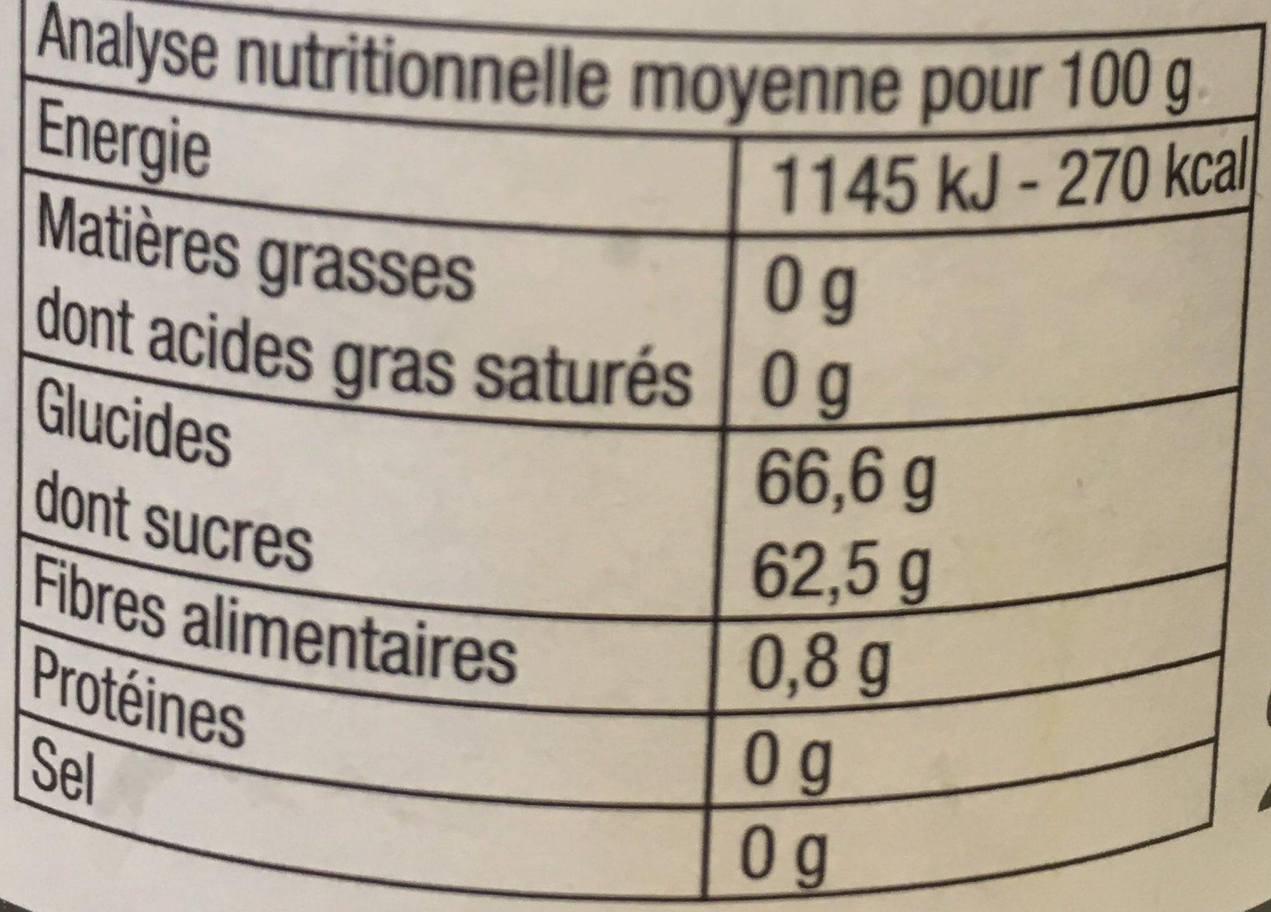 Gelée Cassis extra - Informations nutritionnelles - fr