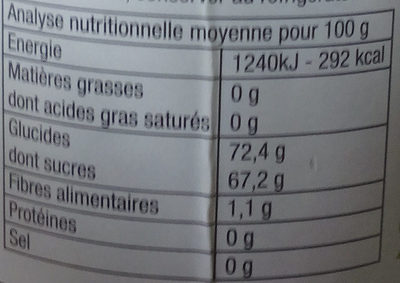 Gelée Coings extra - Informations nutritionnelles - fr
