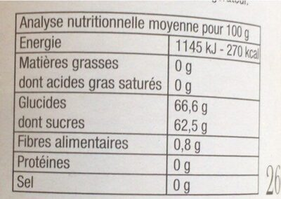 Gelée cassis extra - Nährwertangaben - fr