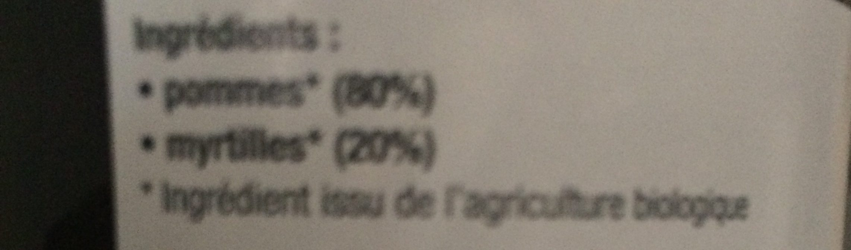 Purée De Pomme Myrtille - Ingrediënten