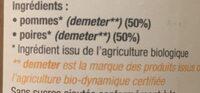 Puree pomme poire - Ingredients - fr