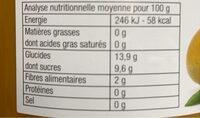 Purée Pommes Mangues - Informations nutritionnelles - fr
