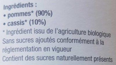 Purée Pomme Cassis - Ingrédients - fr