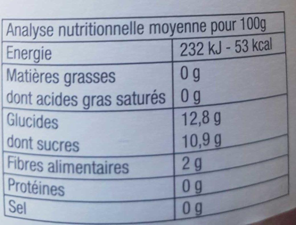 Purée Pomme Cassis - Informations nutritionnelles - fr