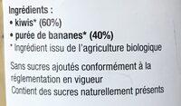 Purée kiwis bananes - Ingrédients