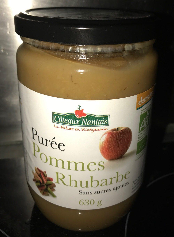 Purée Pommes Rhubarbe - Produit - fr