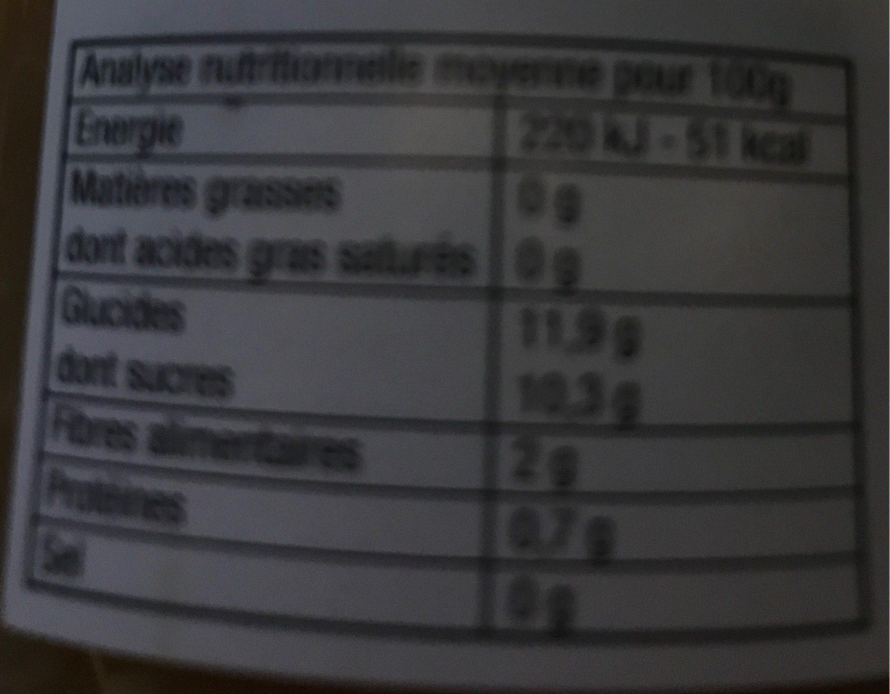 Purée Pommes Rhubarbe - Informations nutritionnelles - fr
