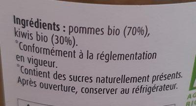 Purée Pommes Kiwis - Ingrédients