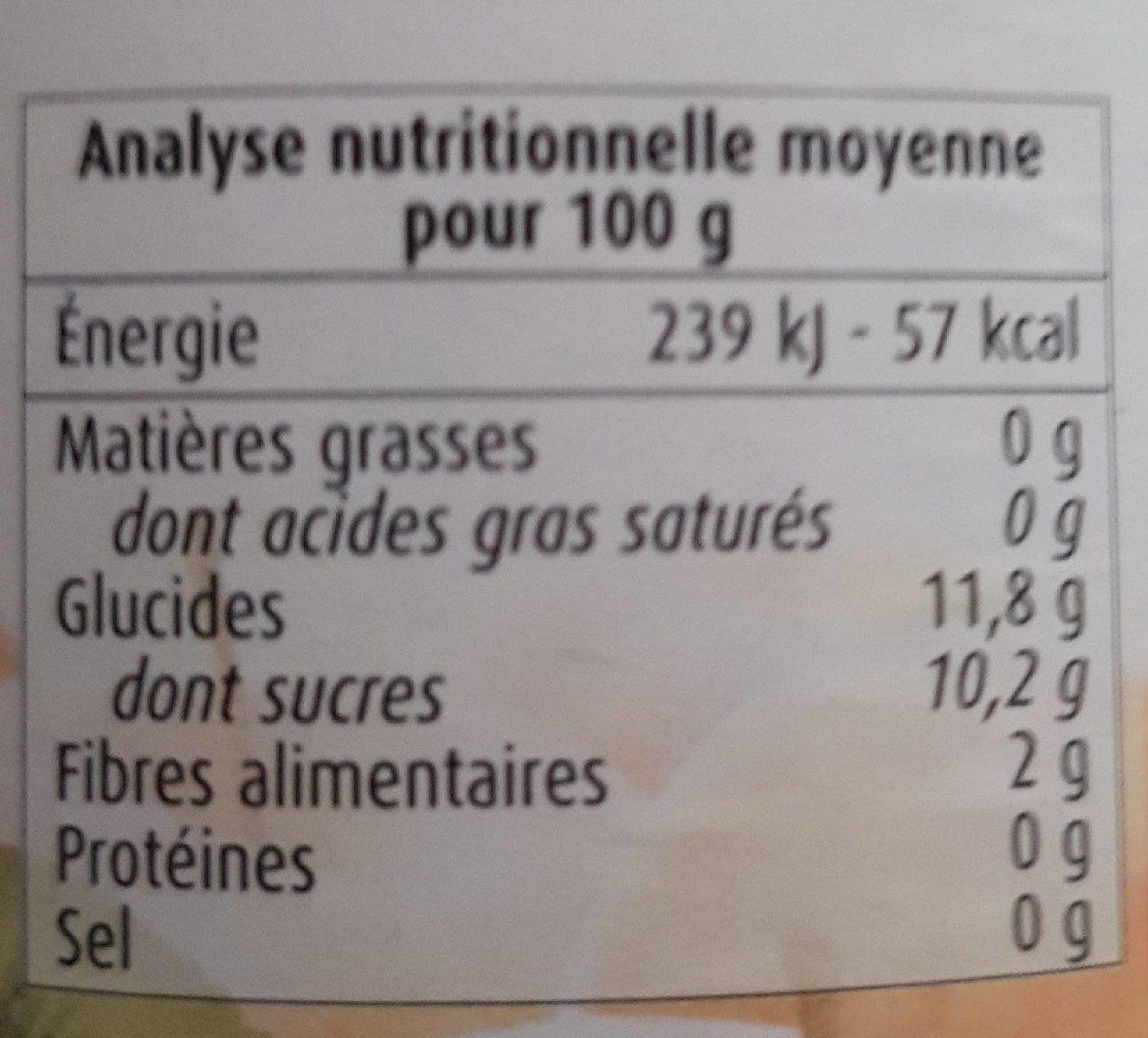Purée Pommes Kiwis - Informations nutritionnelles