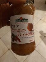 Purée pomme groseilles - Produit - fr