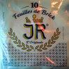 10 Feuilles de Brick - Prodotto
