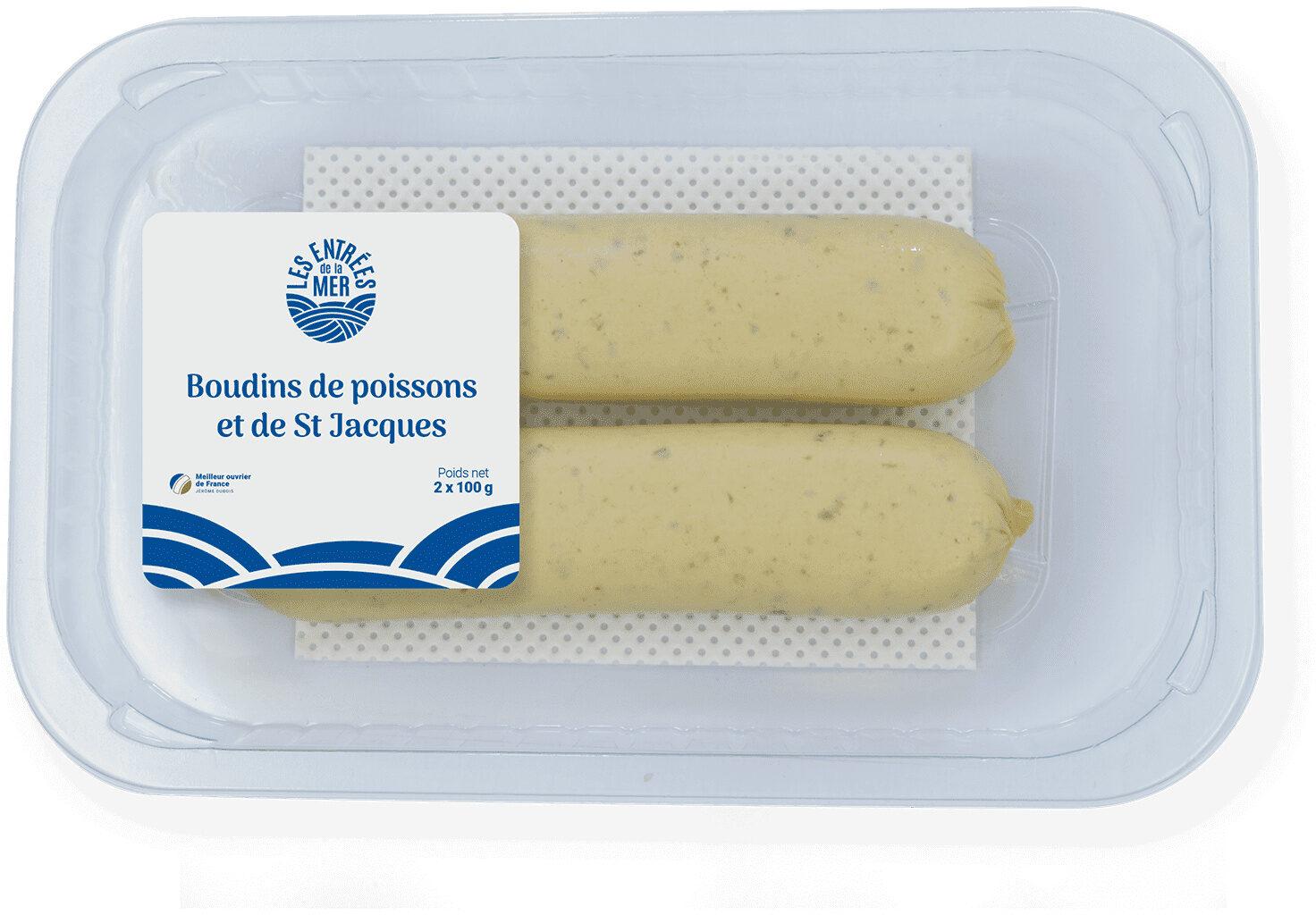 2 boudins de poissons et de saint jacques - Produit - fr