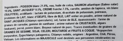 2 boudins de poissons et de saint jacques - Ingrédients